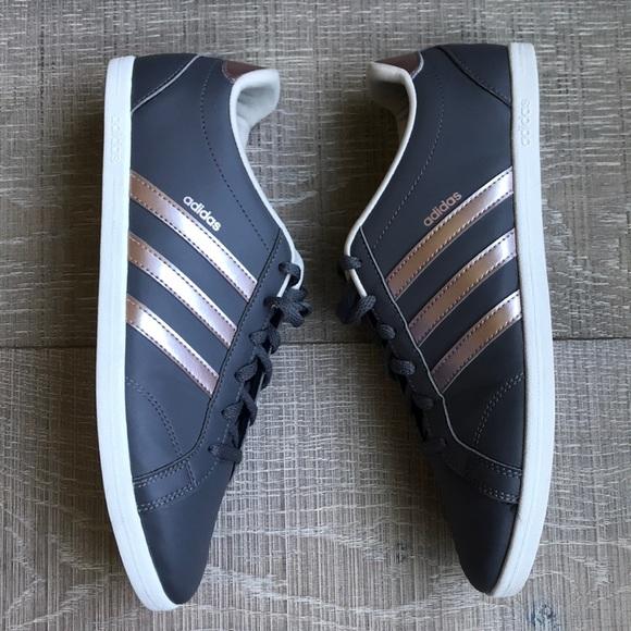 buy popular b4673 68bab adidas Shoes - Adidas Neo QT Coneo Rose Gold Stripe